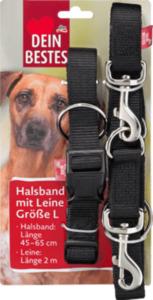 Dein Bestes Zubehör für Hunde, Halsband mit Leine Größe L