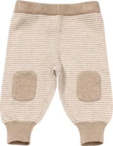 ALANA Baby-Strickhose, Gr. 62, in Bio-Baumwolle und Schurwolle, braun, natur, für Mädchen und Jungen