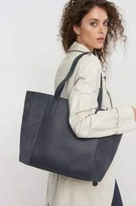Shopper aus Ledermix