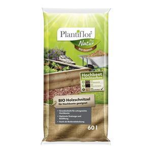 Plantiflor              BIO Holzschnitzel, Grundfüllung für Hochbeet, 60 L