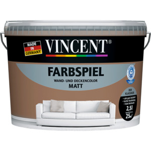 "Vincent              Wand- & Deckencolor ""Farbspiel"", Sand 2,5 L"