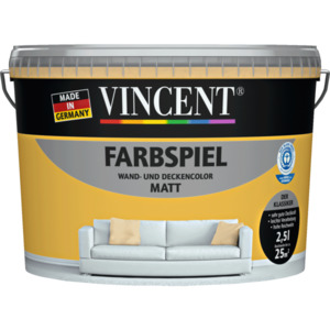 """Vincent              Wand- & Deckencolor """"Farbspiel"""", Papaya, 2,5 L"""