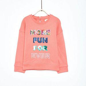 Sfera Mädchen Sweatshirt mit Pailletten-Slogan