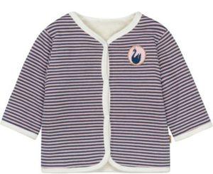 Baby Plüschjacke zum Wenden , Organic Cotton Gr. 56 Mädchen Baby