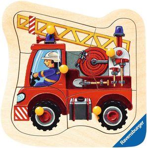 Ravensburger ministeps - Holzpuzzle - Feuerwehrauto, 5 Teile