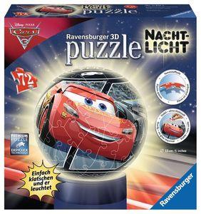 Ravensburger 3D Puzzles - Nachtlicht Cars 3, 72 Teile