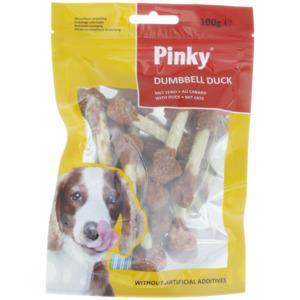 Pinky Hundesnack Dumbell Duck