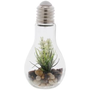 Glühbirne mit Dekopflanze