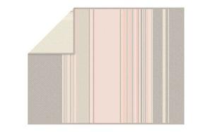Ibena - Wohn- und Schlafdecke Kediri in grau/rosa, 150 x 200 cm