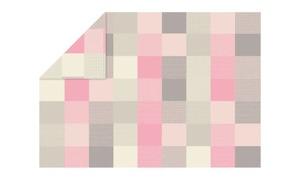 Ibena - Wohn- und Schlafdecke Pittsburgh in grau/rosa, 140 x 200 cm