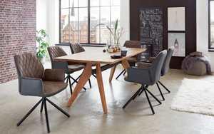 Niehoff - Stuhlgruppe Bahamas aus Edelakazie/nassau stone