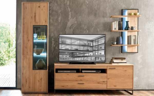 Mca Furniture Wohnwand Portland In Asteiche Bianco Von Hardeck