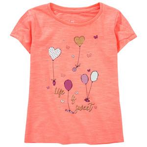 Mädchen T-Shirt mit Puffärmeln