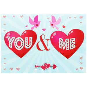 XL Valentinskarte