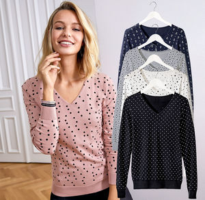 Laura Torelli COLLECTION Damen-Pullover mit angesagtem Design