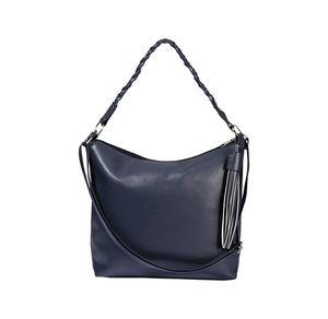Damen-Handtasche mit geflochtenem Schultergurt, ca. 41x29x16