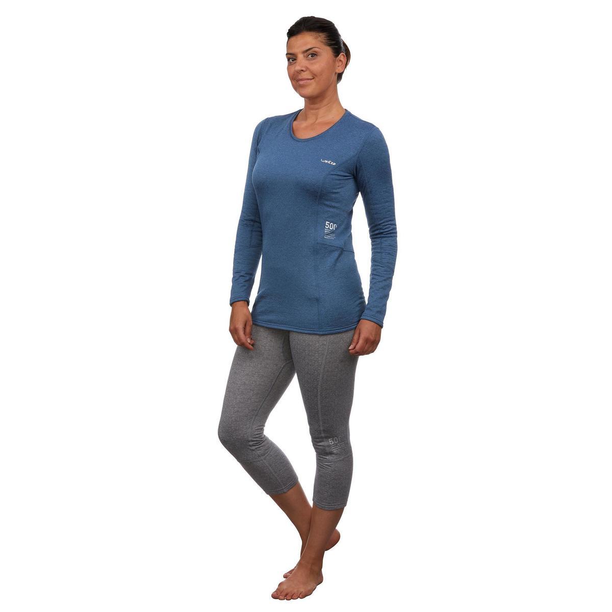 Bild 3 von Skiunterwäsche Funktionsshirt 500 Damen blau