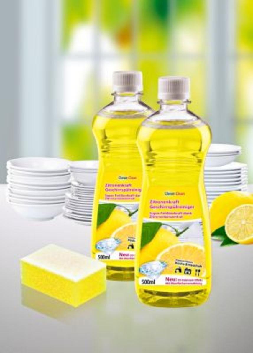 Bild 2 von Zitronenkraftreiniger Geschirrspülmittel, 3tlg.