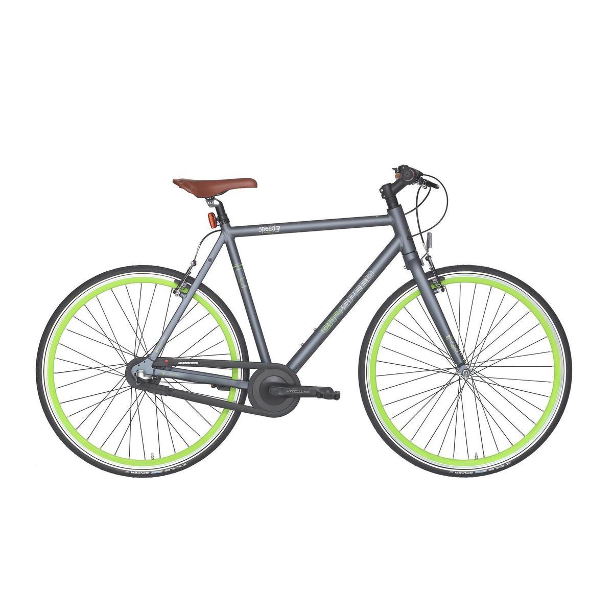 Bild 1 von City-Bike 28 City Speed 500 Nexus 3 mattgrau/neongrün