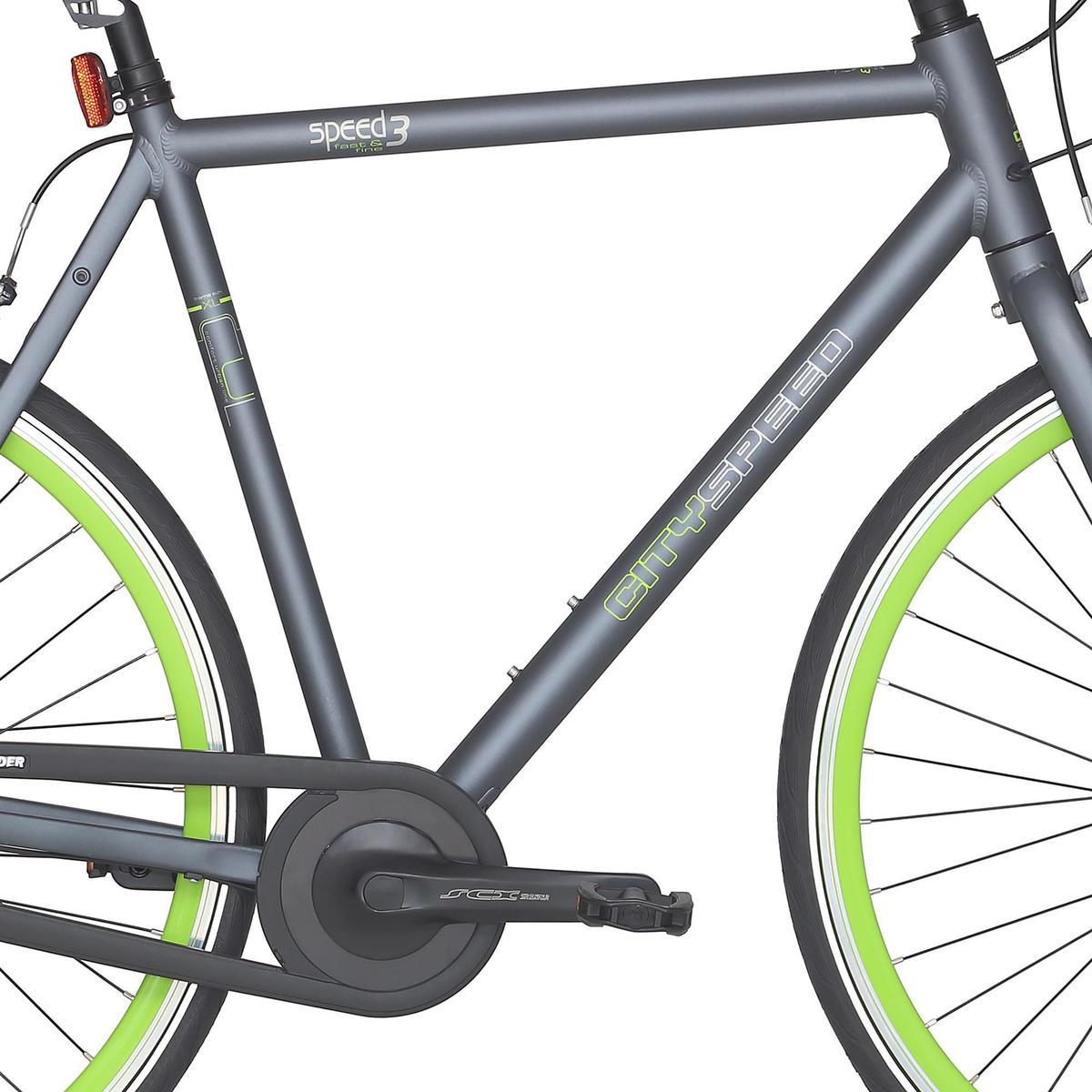 Bild 2 von City-Bike 28 City Speed 500 Nexus 3 mattgrau/neongrün