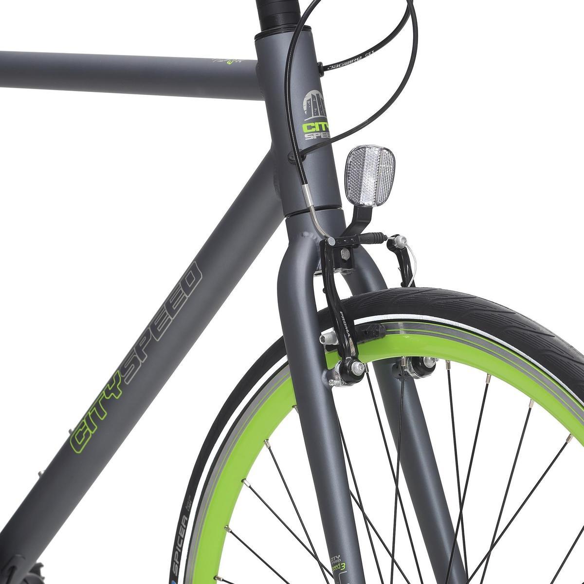 Bild 3 von City-Bike 28 City Speed 500 Nexus 3 mattgrau/neongrün
