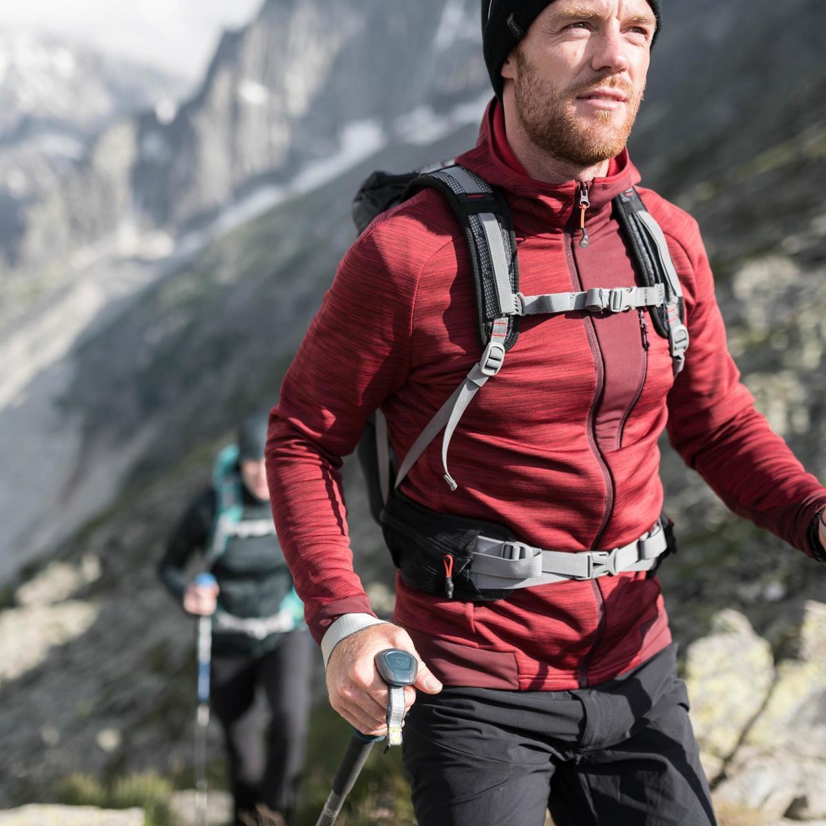 Bild 5 von Fleecejacke Bergwandern MH900 Herren marineblau