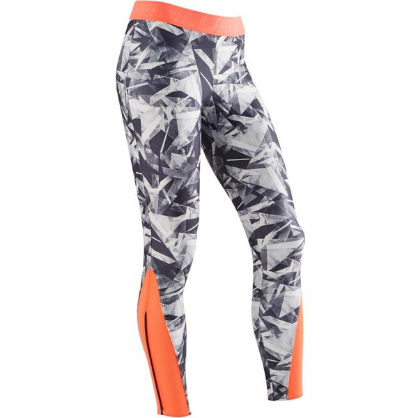 Leggings S900 Gym Kinder weiß mit Print