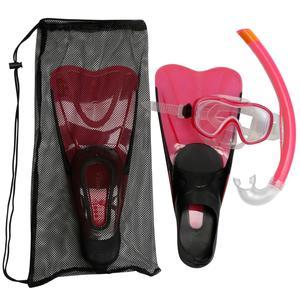 Schnorchel-Set PMT Flossen Maske Schnorchel 100 Erwachsene rosa