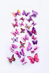 3D-Deko-Schmetterlinge, 24-teilig