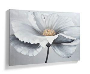 "Ölbild ""Silver Flower"", 120 x 80 cm"