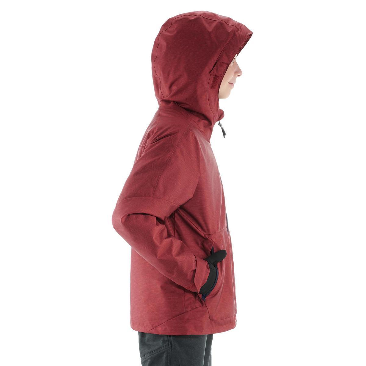 Bild 3 von Wanderjacke Schnee SH100 Warm Kinder rot