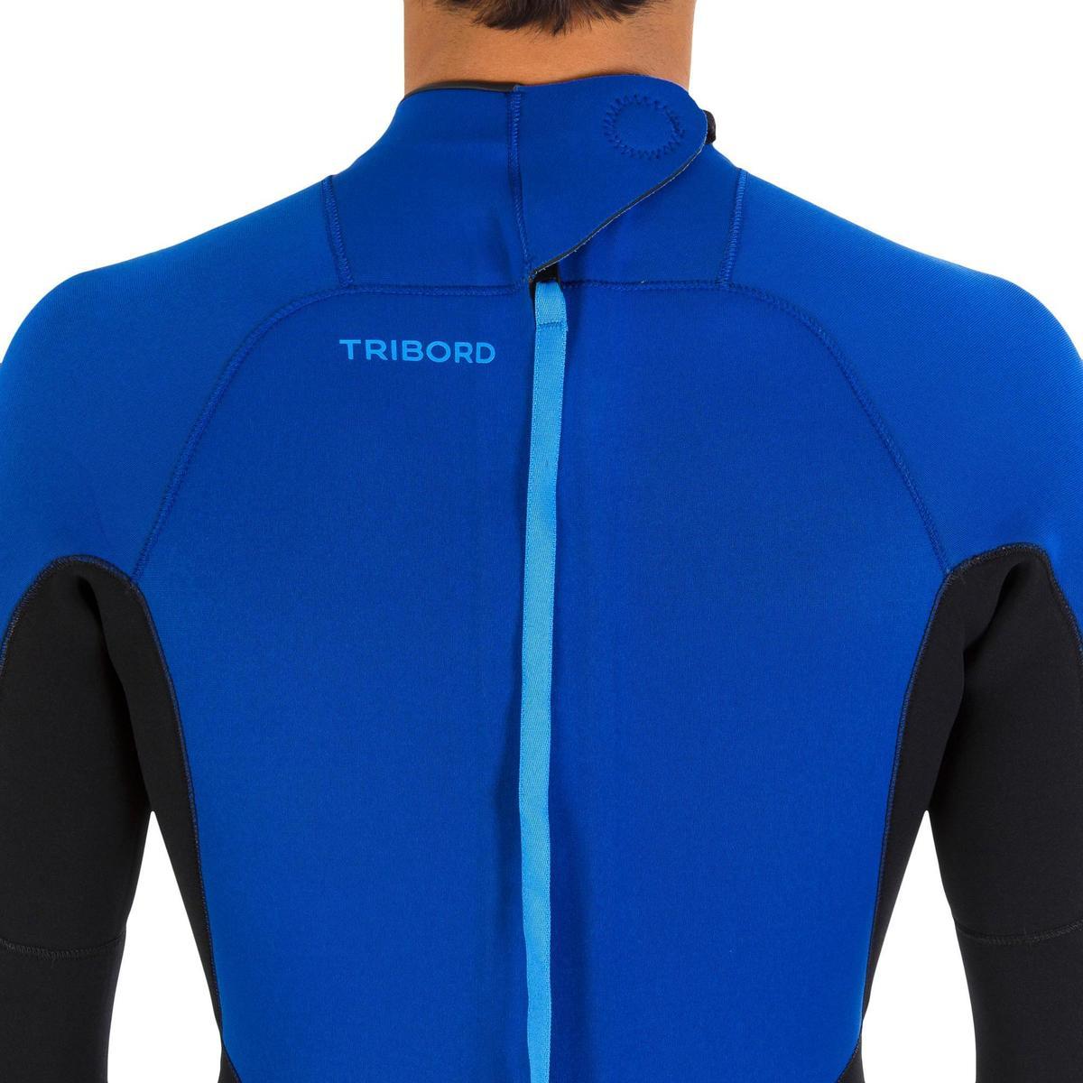 Bild 3 von Neoprenanzug Surfen 100 4/3mm Herren blau