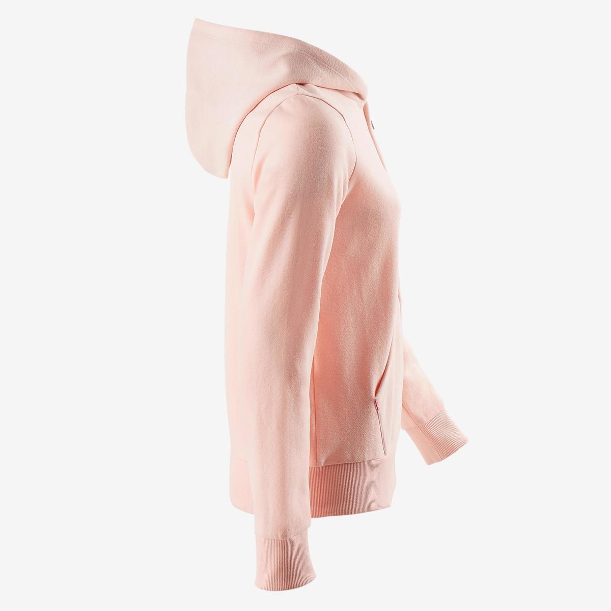 Bild 2 von Sweatshirtjacke 500 Gym Kinder rosa