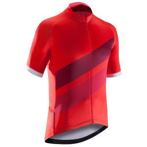 Kurzarm-Radtrikot Rennrad 500 Herren rot