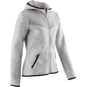 Trainingsjacke Spacer 500 Gym Kinder grau