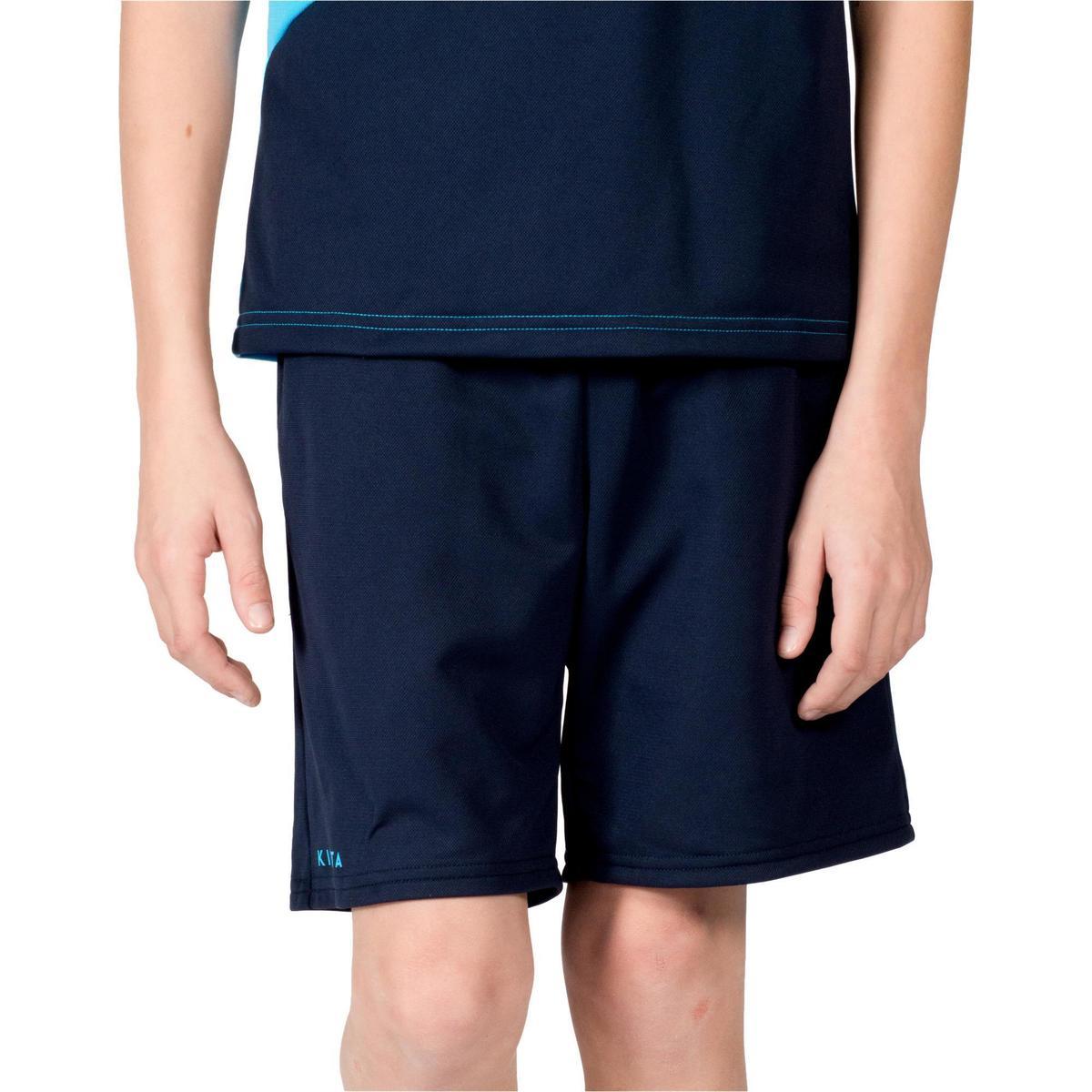 Bild 3 von Feldhockey-Shorts FH100 Kinder hellblau/dunkelblau