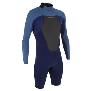 Neoprenanzug Shorty Surfen 500 langarm Herren blau