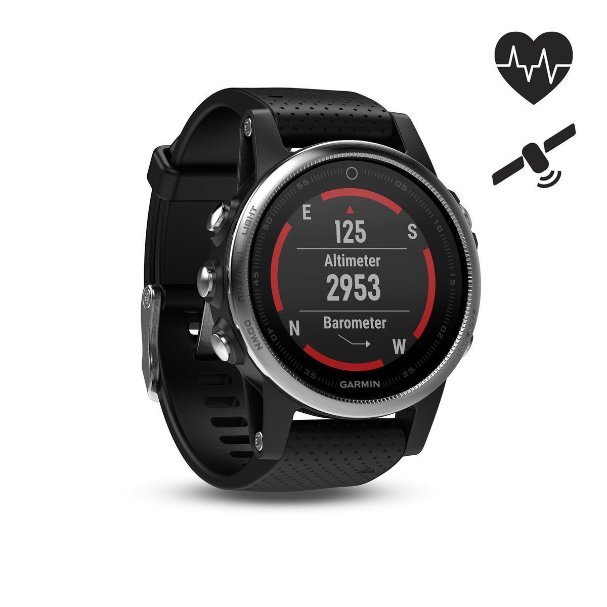 Bild 1 von GPS-Pulsuhr Fenix 5S Multisport HRM silber/schwarz