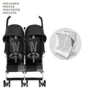 Maclaren   Twin Triumph Zwillings- und Geschwisterbuggy mit Liegefunktion Black/Charcoal