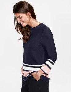 3/4 Arm Pullover mit Seide