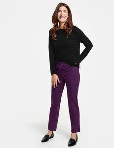 Jeans mit Hot Fix Steinen Straight Fit