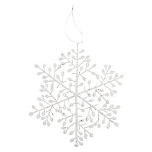 Deko- Schneeflocke, weiß, klein