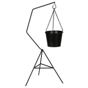 Pflanzenstaender hängend, inkl. Topf, schwarz