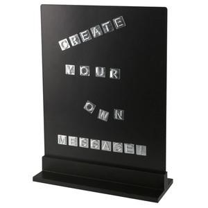 Letterboard magnetisch, Metall, 26 x 35 x 10 cm, schwarz