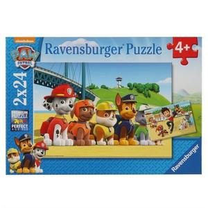 Ravensburger Puzzle, Paw Patrol, Heldenhafte Hunde, 2 x 24 Teile