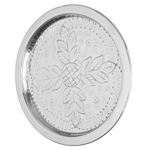 Design-Tablett, Aluminium, rund, 28 cm, silber