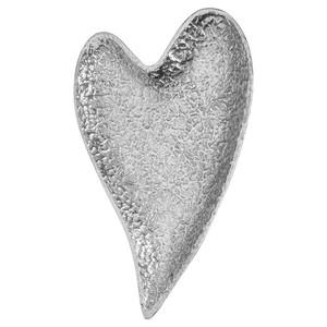 Design-Schale, Herz, Aluminium, 31 x 3 x 22 cm, silber