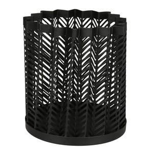 Metall Windlicht, 12,5 cm, schwarz