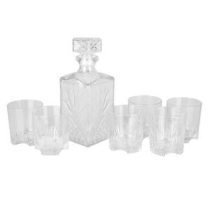 Bormioli Selecta Whisky-Set, Geschenkbox, 7-teilig