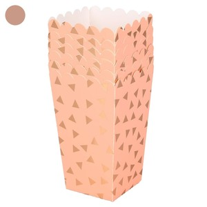 Popcorntüten, Pappe, 10 cm, 6er-Pack, korall